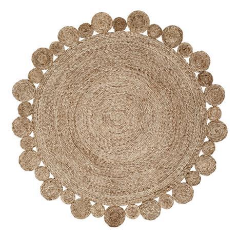 Dixie Circle juuttimatto luonnonharmaa 150 cm