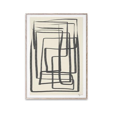 Paper Collective Different Ways I juliste musta 30x40 cm