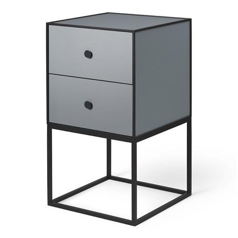 By Lassen Frame 35 sivupöytä kahdella laatikolla Tummanharmaa