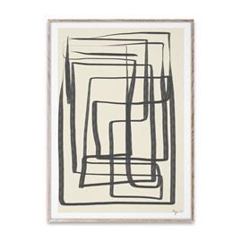Paper Collective Different Ways I juliste musta 50x70 cm