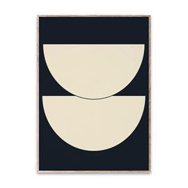 Paper Collective Half Circles I juliste sininen 50x70 cm
