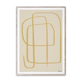 Paper Collective Different Ways II juliste keltainen 50x70 cm