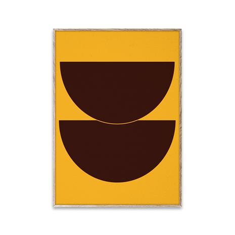 Paper Collective Half Circles II juliste keltainen 30x40 cm