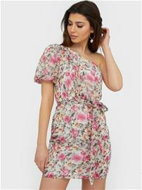 NLY Trend One Shoulder Puff Sleeve Dress