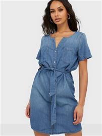 Jacqueline de Yong Jdysaint Life S/S Shirt Dress Denim