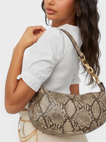Missguided Snake Half Saddle Bag