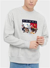 Tommy Jeans Tjm Looney Tunes Crew Puserot Grey
