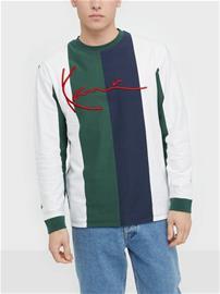 Karl Kani KK Signature Stripe Longsleeve Puserot Vihreä/Valkoinen