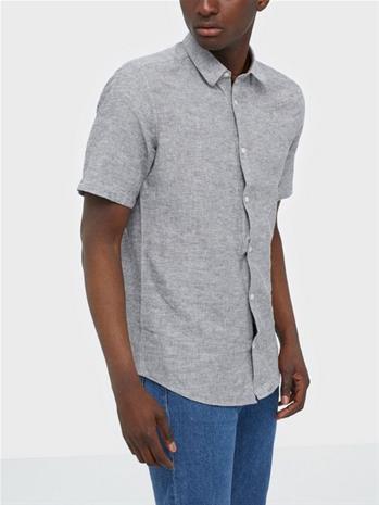 Only & Sons Onscaiden Ss Linen Shirt Noos Kauluspaidat Dark Navy