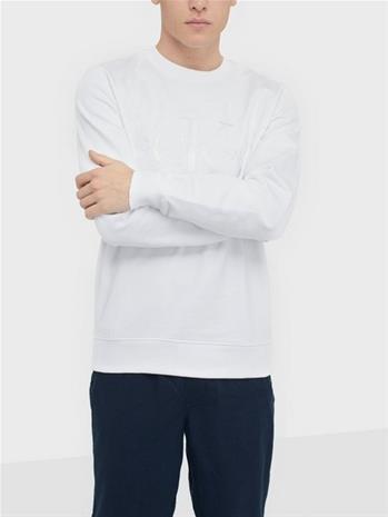 Calvin Klein Jeans White Monogram Embro Cn Puserot White