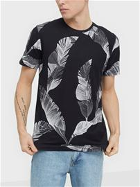 Selected Homme Slhtony Aop Ss O-Neck Tee B T-paidat ja topit Musta
