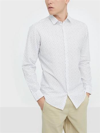 Selected Homme Slhslimlinen Shirt Ls Classic B Kauluspaidat Valkoinen
