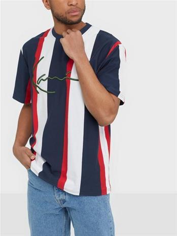 Karl Kani KK Signature Stripe Tee T-paidat ja topit Navy/Punainen/Valkoinen
