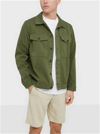 Nudie Jeans Colin Utility Overshirt Takit Green