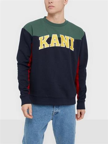 Karl Kani KK College Block Crew Puserot Navy
