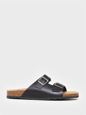 Bianco BIACEDAAR Leather Sandal Sandaalit & varvassandaalit Musta