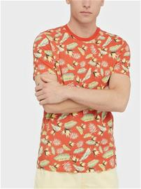 Jack & Jones Jortropic Aop Tee Ss Crew Neck T-paidat ja topit Punainen