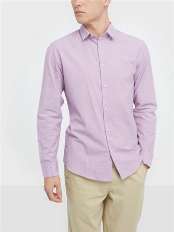 Selected Homme Slhslimlinen Shirt Ls Classic B Kauluspaidat Vaaleanvioletti