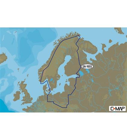 C-Map Y055 Suomen sisävedet ja meri 8gb karttakortti