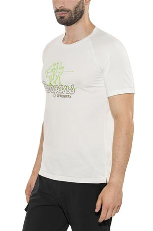 Bergans Tee Miehet, white/faded olive/spring leaves