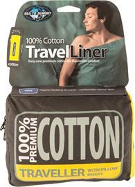 Sea to Summit Premium Cotton Travel Sisähousut Traveller Tyynyinsertillä, navy blue