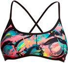 Funkita Cross Back Tie Bikini Top Women, crazy painter