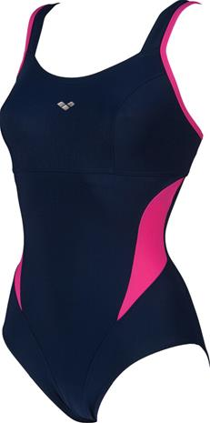 arena Makimurax One Piece Swimsuit Low C Cup Women, navy/rose violet