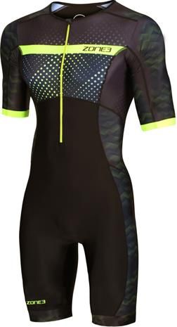 Zone3 Activate+ Lyhythihainen Triathlon-puku Miehet, revolution/black/green
