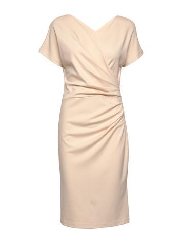 Residus Ava Ecovero Dress Polvipituinen Mekko Beige Residus WHITE SAND