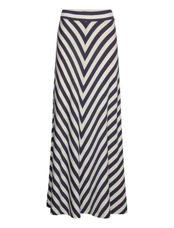 Lexington Clothing Joelle Skirt Pitkä Hame Monivärinen/Kuvioitu Lexington Clothing BLUE/WHITE STRIPE