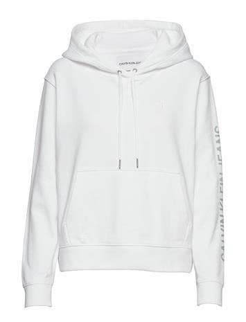Calvin Klein Jeans Degrade Logo Relaxed Huppari Valkoinen Calvin Klein Jeans BRIGHT WHITE