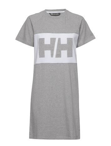 Helly Hansen W Active T-Shirt Dress Lyhyt Mekko Harmaa Helly Hansen GREY MELANGE