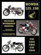 Honda Motorcycles Workshop Manual 125-150 Twins 1959-1966 (Floyd Clymer), kirja