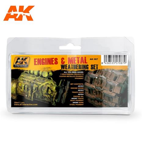 AK Interactive Engines And Metal Weathering Set