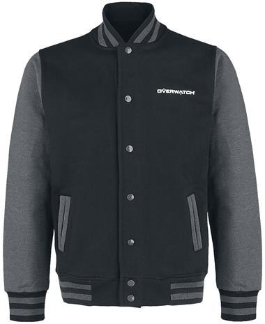 Overwatch - Logo - Baseball-takki - Miehet - Musta harmaa
