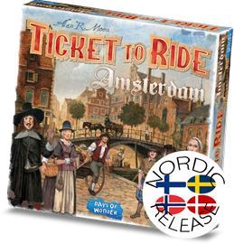 Ticket to Ride: Amsterdam (FI / SE / NO / DK) Lautapeli