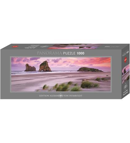 Heye Alexander von Humboldt Wharariki Beach 1000p panorama palapeli