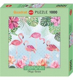 Heye Turnowsky Flamingos & Lilies 1000p neliö palapeli