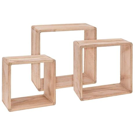 Home&Styling Home&Styling Seinähyllyt 3 kpl keisaripuu