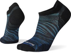 Smartwool PhD Run Ultra Light Wave Print Micro Socks, alpine blue, Miesten housut ja muut alaosat