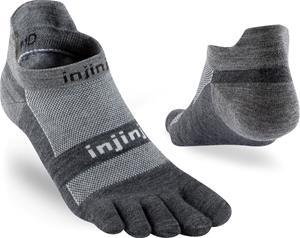 Injinji Run NuWool Kevyet No Show Sukat, charcoal, Miesten housut ja muut alaosat