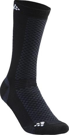 Craft Warm Keskipitkät Sukat 2-Pack, black/white
