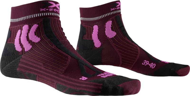 X-Socks Trail Run Energy Sukat Naiset, dark ruby/flamingo pink, Naisten housut ja muut alaosat