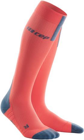 cep Run Socks 3.0 Miehet, coral/grey, Miesten housut ja muut alaosat