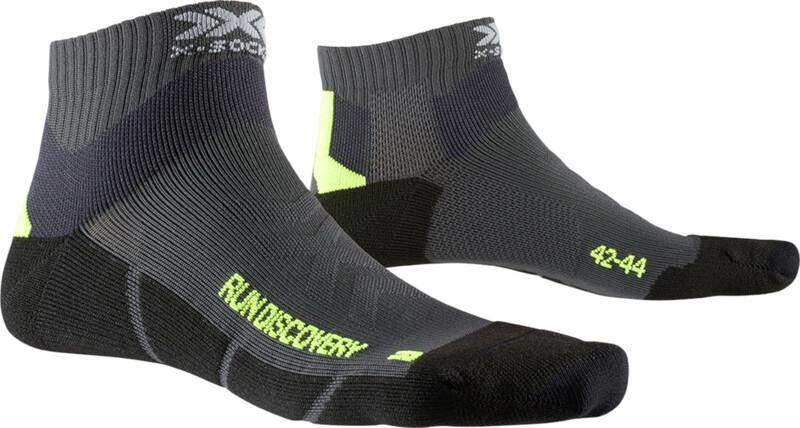 X-Socks Run Discovery Socks, charcoal/phyton yellow/black, Miesten housut ja muut alaosat