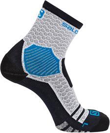 Salomon NSO Long Run Socks, white/transcend blue, Miesten housut ja muut alaosat
