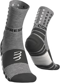 Compressport Shock Absorb Socks, grey melange, Miesten housut ja muut alaosat