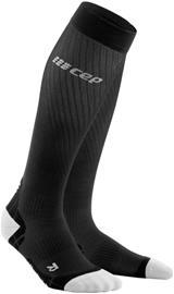 cep Ultralight Run Socks Women, black/light grey, Naisten housut ja muut alaosat