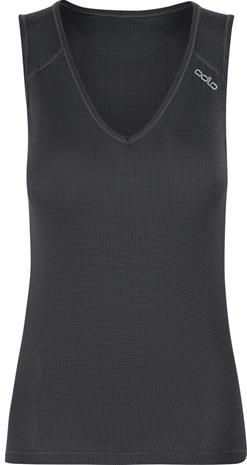 Odlo Cubic Hihaton V-kaulus Naiset, ebony grey-black