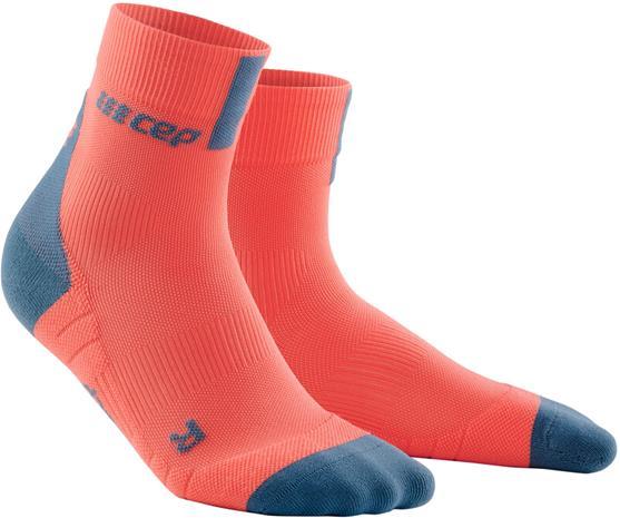 cep Short Socks 3.0 Miehet, coral/grey, Miesten housut ja muut alaosat